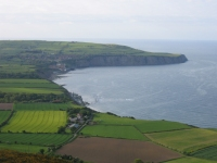 Looking down on Robin Hood's Bay from Ravenscar